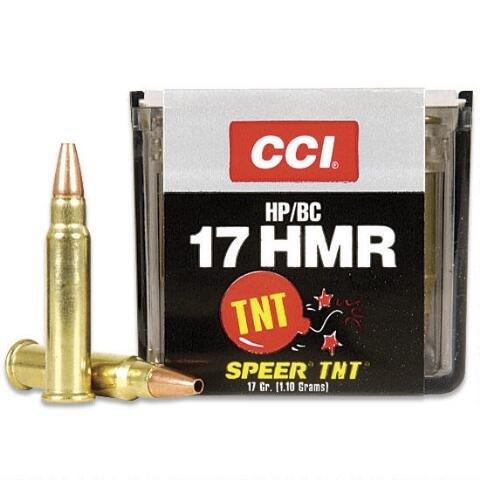 CCI CCI TNT Varmint .17 HMR 17 Grain Jacketed Hollow Point (50 Rounds)
