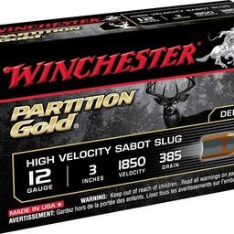 Winchester Winchester Partition Gold High Velocity Sabot Slug Shotgun Shells