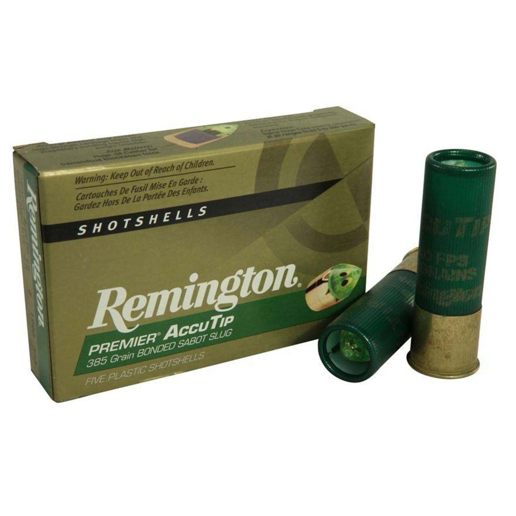 Remington Premier Accutip Bonded Sabot Slug Shotgun Shells 5 Rounds Triggers And Bows
