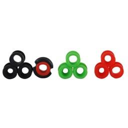 TRUGLO Versa Peep Interchangeable Bow Peep Sight (Red/Black/Green)