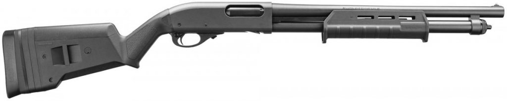 "Remington Remington 870 Express Tactical 12 Gauge 18.5"" Barrel Cylinder Bore w/ 2 Shot Extension Magpul Stock And Forearm"