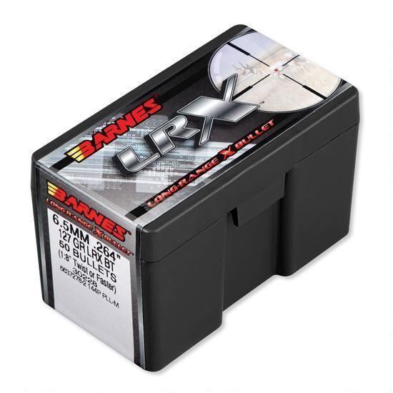 "Barnes Long-Range X Bullet (LRX) 6.5mm .264"" 127 Grain BT (50-Bullets)"