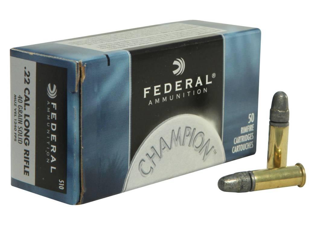 Federal Federal Champion .22LR HV 40 Grain Round Nose