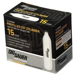 Sig Sauer Prefilled Co2 Cylinder 12 Gram (15-Count)