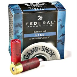 "Federal Federal Game-Shok Heavy Field Load 20 Gauge 2 3/4"" Shot #7.5"