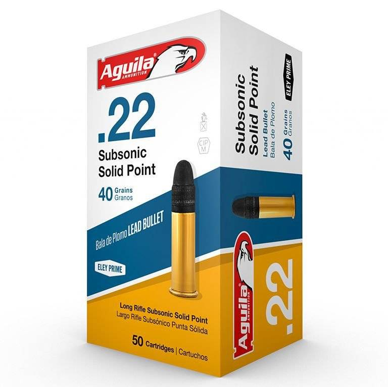 Aguila Aguila .22LR SuperExtra (50 Count) Lead Round Nose Subsonic