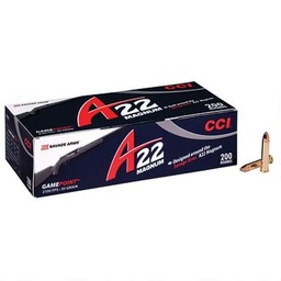 CCI CCI A22 Gamepoint .22 WMR 35 Grain 2100FPS Soft Point (200-Rounds)