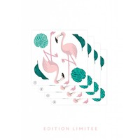 Papermint Stickers Flamingo set of 4 pink