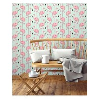 Papermint Wallpaper Flamingo