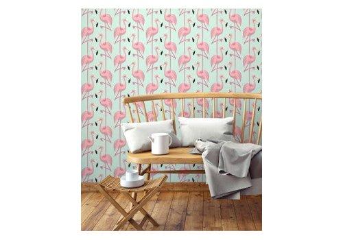 PaperMint Papermint Wallpaper Flamingo