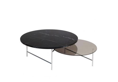 La Chance Zorro Table Marble and Glass