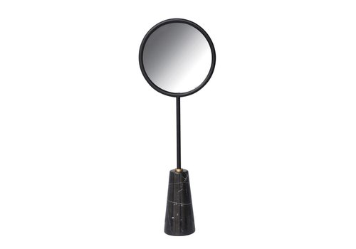 Coming B Table Mirror Black Marble