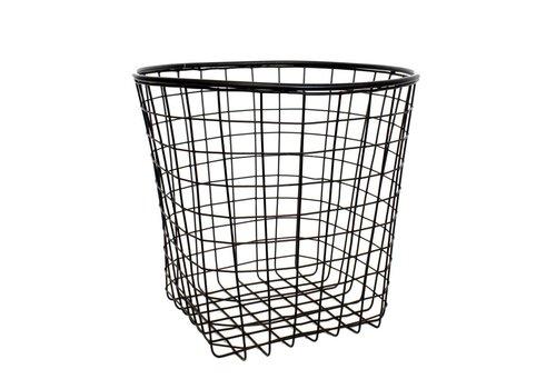 Coming B Black round Metal Basket