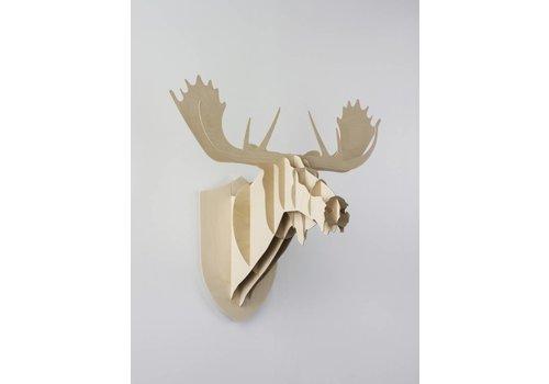 Moustache Moose wooden decor