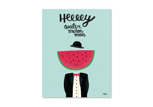 Michelle Carlslund Watermelon Man Poster 30 X 40