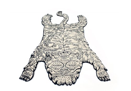 Moustache Tiger Large Rug