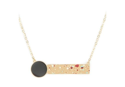 Alphabeta Polock Geometric Necklace