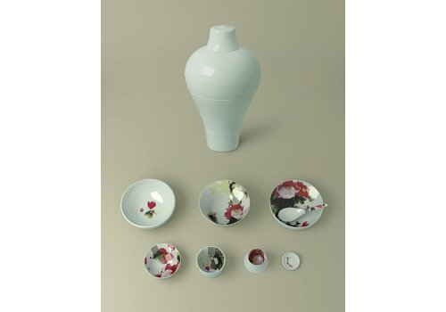 Ibride Stackable Dishes Ming Peony