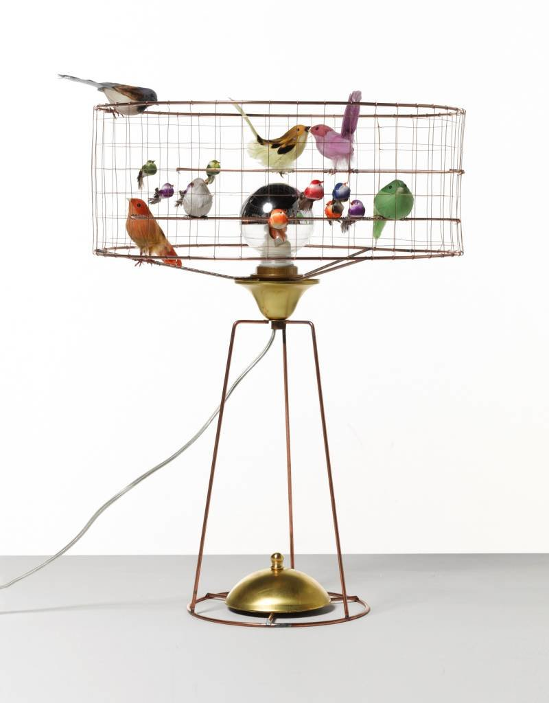 Mathieu Challieres Table Birdcage Lamp
