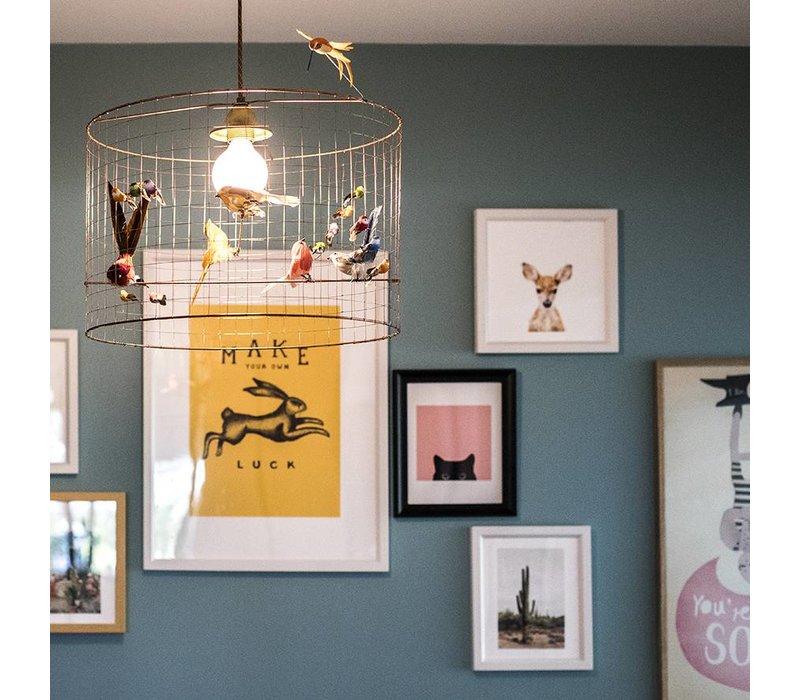 Pendant lamp Small Birdcage Mathieu Challieres