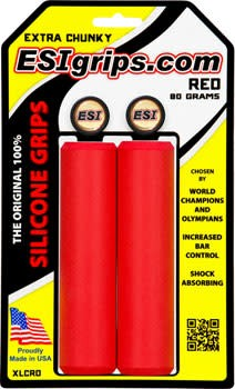 ESI 10-18 ESI 34mm Extra Chunky Silicone Grips: Red