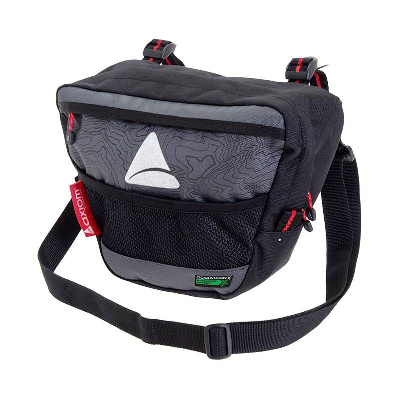 Axiom 10-18 BAG AXIOM HBAR SEYMOUR O-WEAVE P4 GY/BK