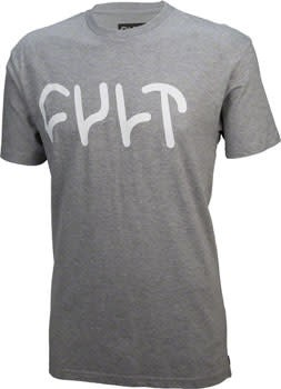 cult 1-19 Cult Logo T-Shirt: Heather Gray, XL