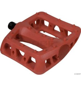 iSSi 1-19 iSSi Thump Flat Pedals: Small Composite with Molded Pins, Red
