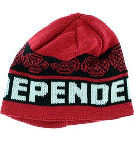 inde woven crosses beanie-blk/red/wht