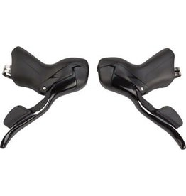 Microshift 6-18 microSHIFT Road R8 Double 8-Speed Drop Bar Lever Set, Shimano Compatible, Black