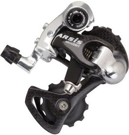 Microshift 6-18 microSHIFT Arsis 10-Speed Road Short Cage Rear Derailleur, Carbon, Shimano Compatible