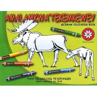 nimbus Amalamkwa' Tekemkewey: Mi'kmaw Colouring Book