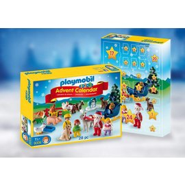 Playmobil 1, 2, 3 Advent Calendar 'Christmas on the Farm'