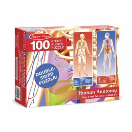 Melissa & Doug Human Body Floor Puzzle - 100 Pieces