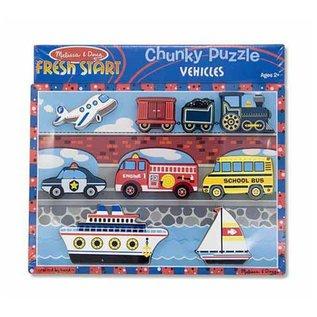 Melissa & Doug Vehicles Chunky Puzzle - 9 Pieces