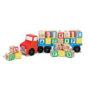 Melissa & Doug Alphabet Blocks Wooden Truck