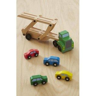 Melissa & Doug Car Carrier Truck & Cars Wooden Toy Set