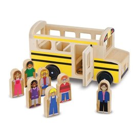 Melissa & Doug Wooden Classic School Bus