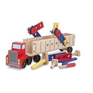Melissa & Doug Big Rig Building Truck Wooden Play Set