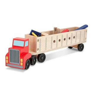 Melissa & Doug Big Rig Building Truck Wooden Play Set