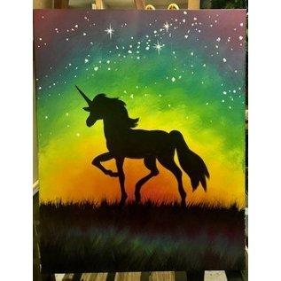 Jen Power Art BFF Unicorn Painting