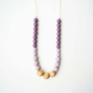 Loulou Lollipop Naturalist Wood + Silicone Necklace