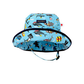 Snug as a Bug Sharks Ahoy! Adjustable Sun Hat