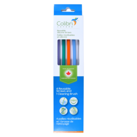 Colibri Colibri Silicone Straws 4 pack + Cleaning Brush
