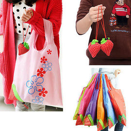 DHGate Reusable Shopping Bag - Strawberry