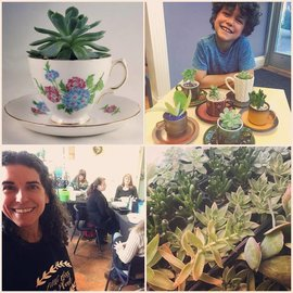 Little Miss Fancy Plants Parent & Child Date! Teacup Succulentparty Sept 21