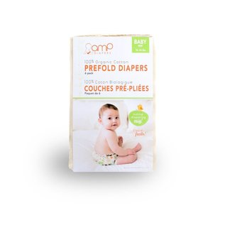 AMP Diapers AMP Organic Prefolds