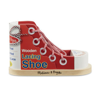 Melissa & Doug Wooden Lacing Shoe