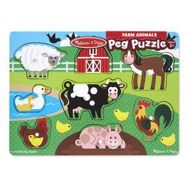 Melissa & Doug Farm Peg Puzzle - 8 Pieces