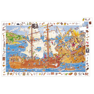 Djeco Pirate Observation Puzzle- 100pc